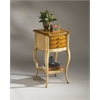 BUTLER Accent Table, Pine n' Cream