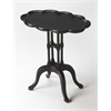 Lloyd Black Licorice Oval Accent Table, Black Licorice