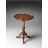 BUTLER Pedestal Table, Olive Ash Burl