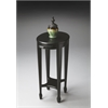 Arielle Black Licorice Accent Table, Black Licorice
