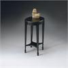Arielle Plum Black Accent Table, Plum Black