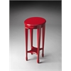 Butler Arielle Red Round Accent Table, Red
