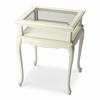 Burton Cottage White Curio Table, Cottage White
