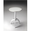 Butler Burbank Silver Accent Table, Pearlesque Silver