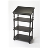 Butler Alden Black Licorice Library Stand, Black Licorice