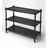 Rothwell Black Licorice 3-Tier Console Table, Black Licorice