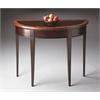 Hampton Cherry Nouveau Demilune Console Table, Cherry Nouveau
