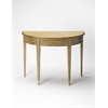 Butler Hampton Driftwood Demilune Console Table, Driftwood