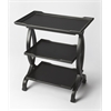 Kimiko Black Licorice Side Table, Black Licorice