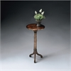 BUTLER Pedestal Table, Brown and Gold
