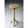 Florence Yellow Floral Pedestal Table, Yellow Floral