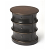 Margot Café Noir Oval Drum Table, Café Noir