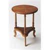 Butler Petry Olive Ash Burl Accent Table, Olive Ash Burl