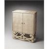 Garfield Leather Accent Cabinet, Loft