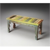 Butler Rao Painted Wood Bench, Artifacts