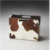 San Angelo Hair-On-Hide Magazine Rack, Hors D'oeuvres