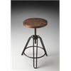 "Revolving Bar Stool, Metalworks, 15-3/4""D, 14""D, 29-1/2""H"