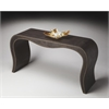Milano Leather Console Table, Modern Expressions