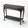 Ridgeland Black Licorice Console Table, Black Licorice