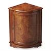 Durham Olive Ash Burl Corner Cabinet, Olive Ash Burl