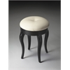 Simone Black Licorice Vanity Stool, Black Licorice