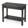Butler Sheridan Black Licorice Console Table, Black Licorice