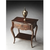 Giselle Tobacco Leaf Painted Console Table, Tobacco Leaf