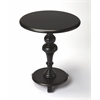 BUTLER Pedestal Table, Black Licorice