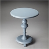 Butler Nicolet Glossy Wedgewood Pedestal Table, Glossy Wedgewood