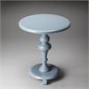 BUTLER Pedestal Table, Glossy Wedgewood