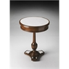 Adele Mirror And Mahogany Accent Table, Mirror and Mahogany
