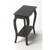 Sabrina Black Licorice Chairside Table, Black Licorice