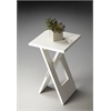 Hammond White Folding Table, Loft