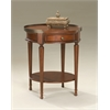 Sampson Plantation Cherry Accent Table, Plantation Cherry