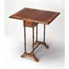 BUTLER Drop-Leaf Table, Olive Ash Burl