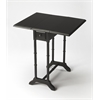 BUTLER Drop-Leaf Table, Black Licorice