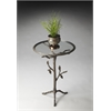 "Butler Accent Table, Metalworks, 19""Diam."