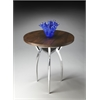 "Accent Table, Nickel, 17-1/2""Diam."