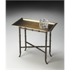 Meiling Antique Brass Tray Table, Metalworks