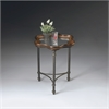 Butler Pamela Glass And Metal Accent Table, Metalworks