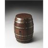 Calumet Rustic Barrel Table, Mountain Lodge