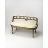Mansfield Guilded Cream Bench, Gilted Cream