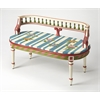 BUTLER MANSFIELD HAND PAINTED BENCH