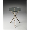 Butler Alpine Glass And Metal Accent Table, Metalworks
