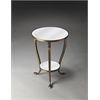 Butler Cascade Mirrored Accent Table, Metalworks