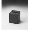 Lido Brown Leather Tissue Box, Brown Leather