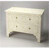 Vivienne White Bone Inlay Chest, White Bone Inlay