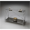 "Butler Console Table, Nickel, 39-1/2""W, 16-1/2""D, 31""H"