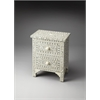 Vivienne Grey Bone Inlay Accent Chest, Gray Bone Inlay