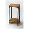 Grimsley Iron & Wood Pedestal Stand, Industrial Chic